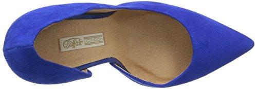 BUFFALO - 11622 290, Scarpe col tacco con cinturino a T Donna Blu (Blue247)