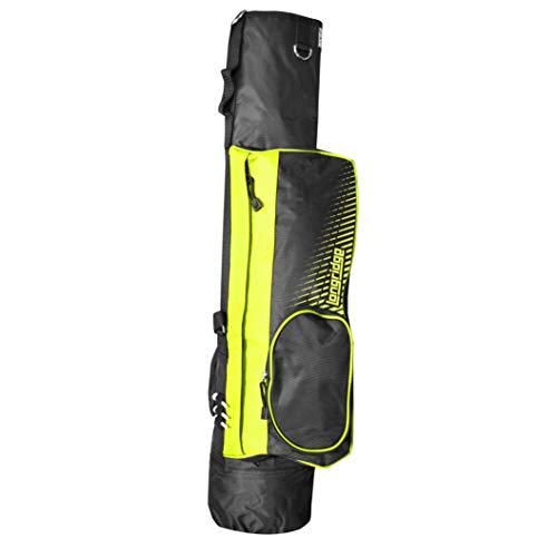 """LONGRIDGE Unisex-Adult 5\"""" Pencil Golf Bag, schwarz/Limette, ONE Size"""