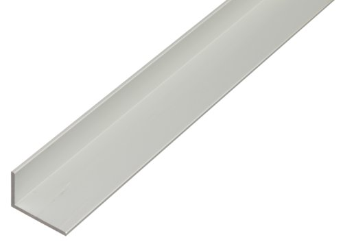 Winkelprofil aus Aluminium, 1000 x 40 x 20 mm, silberfarbig eloxiert