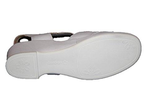 Ganter Carla 202761 Damen Schuhe Sandalen, Weite F Weiss (White)