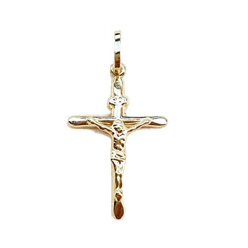 Kreuz-Anhänger Kruzifix, aus Gelbgold 18kt. 750/000