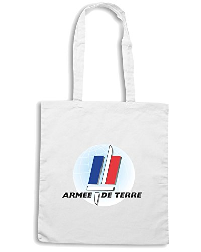 T-Shirtshock - Borsa Shopping TM0370 Armee De Terre usa Bianco