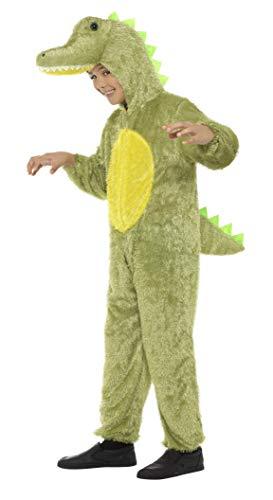 x Krokodil Kostüm, Jumpsuit mit Kapuze, Größe: S, 30777 ()