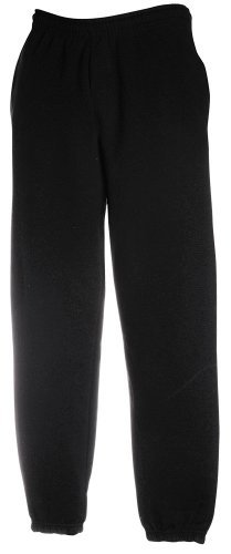 JOGGINGHOSE ELAST BUND FRUIT OF THE LOOM S M L XL XXL XL,Black