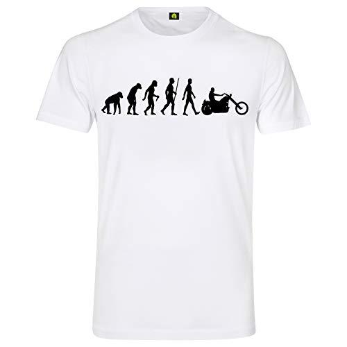 Evolution Chopper T-Shirt | Motorrad | Davidson | Motorcyle | Harley | Bike Weiß 4XL