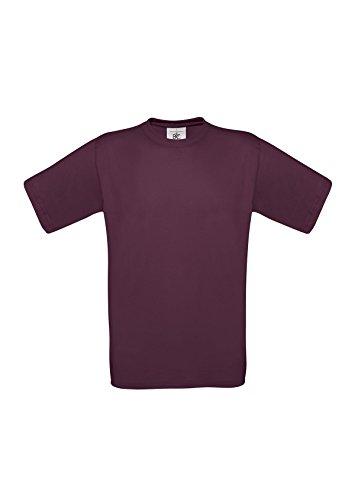 B&C Unisex T-Shirt Rot - Burgunderrot