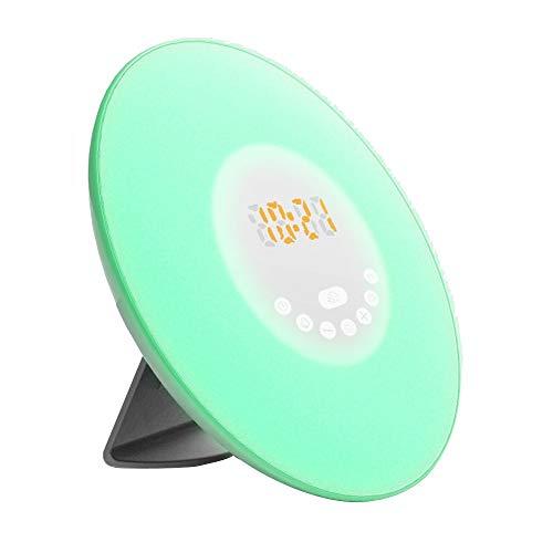 Dtuta Led-Wecklicht Mit USB-Aufladung, Ukw-Radio, Multifunktionsfunktion Wecker Mit Sonnenaufgangssimulation Radio Tischuhren