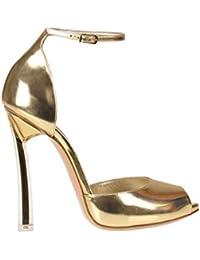 ... Casadei Scarpe con Tacco Donna MCGLCAT000005023E Pelle Oro  728dcf90ad398f0 ... d881561ca83