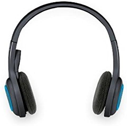 Logitech H600 - Auriculares inalámbricos de diadema cerrados (con micrófono, control remoto integrado), color