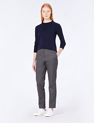 MERAKI Baumwoll-Pullover Damen mit Rundhals Blau (Navy)