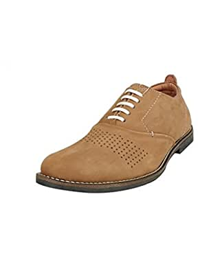 Moladz Men's Golden Leather Lace Up Shoes -10 UK