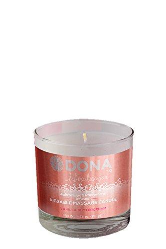 Dona von Jo 135g Vanilla Buttercream Kissable Massage Kerze