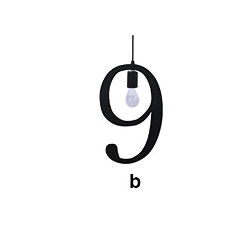 Creative Musical Notes Arabic Digital Chandelier Iron Personality Pendant Lamp Restaurant Bar Cafe Art Hanging Line Light,9b -