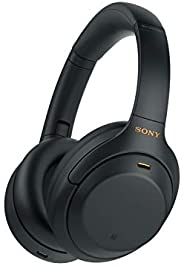Sony WH-1000XM4 Noise Cancelling Wireless Headphones - 30 hours battery life - Over Ear style - Optimised for