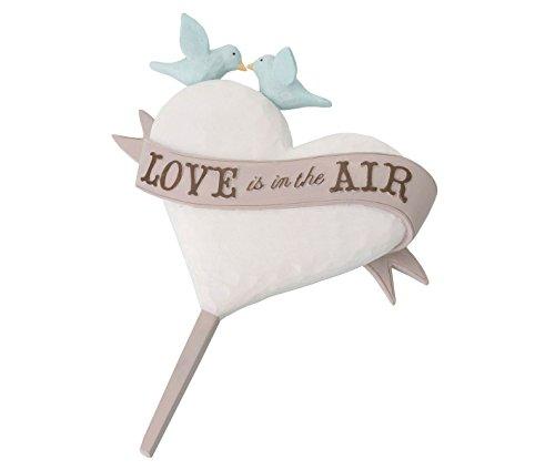 Lillian Rose Tortenaufsatz für Hochzeitstorte, rustikales Herz, Vögel
