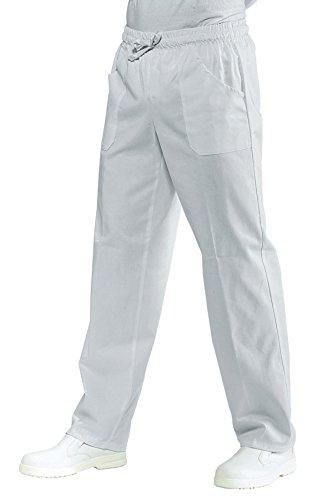 Pantalone sanitario bianco con elastico Isacco S