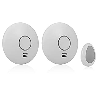 Smartware RM174RF/2 [Pack of 2 Slimline General Conforms to EN 14604 Wireless Smoke Alarm with Remote Control