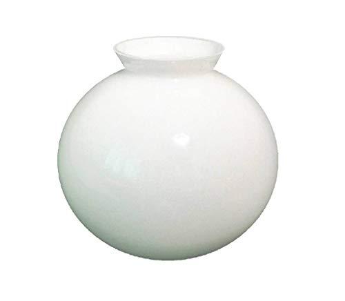 20cm diamètre Verre Blanc Sphériques Abat-jour avec col évasé. Col (largeur extérieure): 10.5cm diamètre, Trou: 8.2cm diamètre. Hauteur: 20cm. Circonférence: 63cm [éclairage lumière ballon rond sphère]