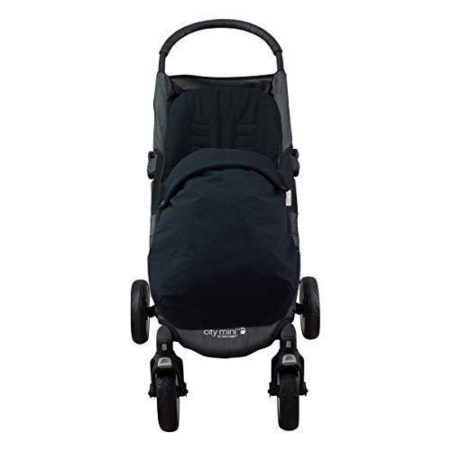 JANABEBE Fußsack für Baby Jogger City Mini (BLACK SERIES, BAUMWOLLE)