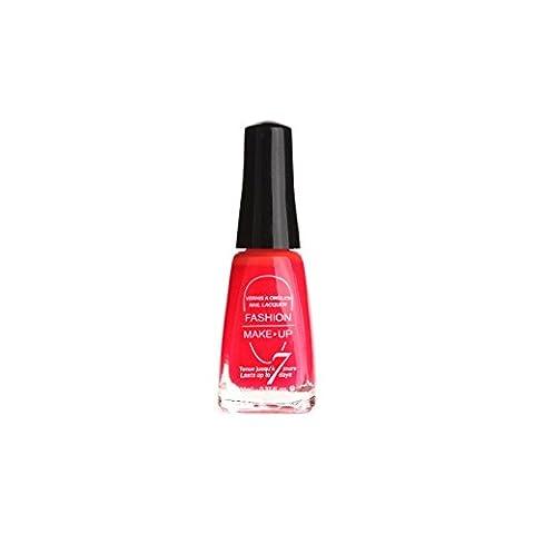 Vernis à Ongles - Rouge Fluo - 11 ml - Flashy le jour / Lumineux la nuit !