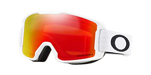 Oakley Line Bergmann Youth Snow Goggle, weiß matt, Small, Prizm Torch Iridium Lens