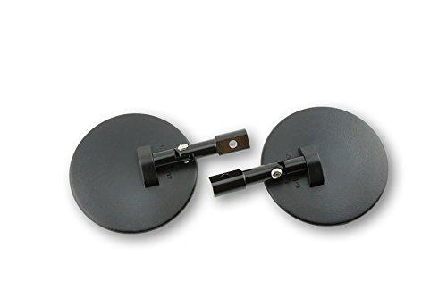 Spiegel für Lenkerende, rund, schwarz, verstellbar