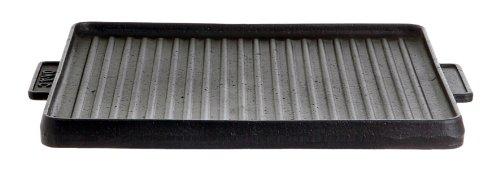Gusseisenkuss Gusseisengrillplatte massiv, eckig, Schwarz, 32 x 32 cm