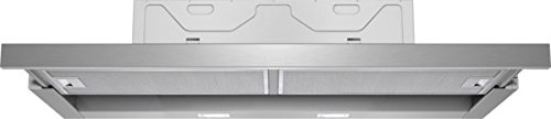 CONSTRUCTA CD30975 Flachschirmhaube/Silbermetallic / 90 cm/LED Beleuchtung