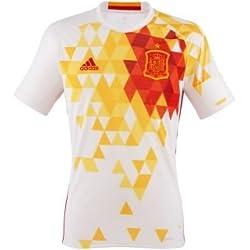 adidas Uefa Euro 2016 Camiseta Selección Española de Futbol 2ª Equipación 2015/2016, Hombre, Blanco/Rojo/Amarillo, XS