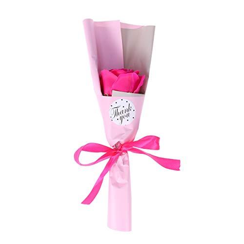 Amosfun 1 stück Rose seife duftende Rose Blume Bad körperseife Pflanze ätherisches öl seife für Muttertag Hochzeit Geburtstag Geschenk (Rosy) -