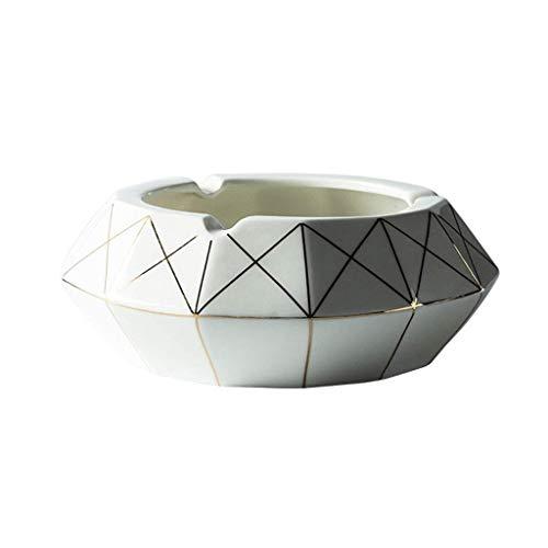 GWFVA Nordic kreative Keramik aschenbecher Home persönlichkeit tragbare aschenbecher Wohnzimmer Tisch aschenbecher büro große kapazität Auto aschenbecher (Farbe: b, größe: 6,1 * 2,36 Zoll) -