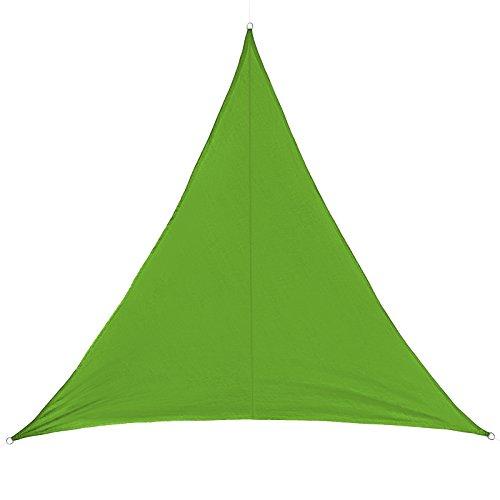 BB Sport Sonnensegel dreieckig in verschiedenen Größen und Farben Sonnenschutz 100{b119a891ab347d639f9e76f8e09a27b670755254ab0a6e434b664a37025c518f} PES Sichtschutz Windschutz Tarp, Farbe:Smaragd, Größe (Fläche):3.6m x 3.6m x 3.6m