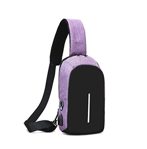Layxi Clothing Herren Mode Lässig Brusttasche Radfahren Wandern Camping Freizeit Tasche Outdoor Multipurpose Tagepacks Leinwand Sling Bag Brust Pack Freizeittasche Schultertasche - Multi Purpose Leinwand