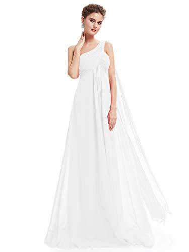 Ever Pretty Vestito da Cerimonia Donna Monospalla Linea ad A Chiffon Stile Impero con Cinghia Lungo 09816