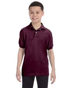 Jugend Kurzarm Stricken Tag-Free Label Polo Jersey, Kastanienbraun, gro? - Jugend Jersey Polo