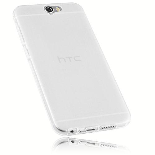mumbi Schutzhülle HTC One A9 Hülle transparent weiss