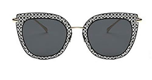 Skudy Sonnenbrille Metallrahmen Sonnenbrillen Vintage-Stil Mädchen Brillen Polfilter Runde Dekogläser Men Schutz Optimal