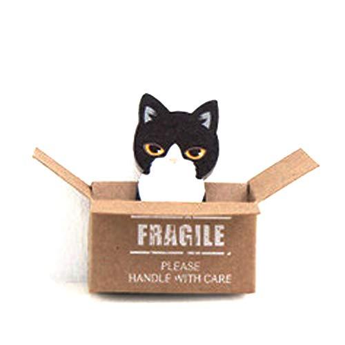 leber Niedliche Kitty Sticky Note Book geeignet für Schule, Büro, zu Hause, Kühlschrank, Schreibtisch, Tür (Schwarze Katze) ()