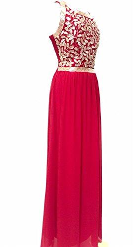 Womens Embelli Rouge Robe Maxi Robe De Soirée Rouge