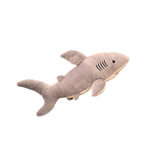 378/5000 Reisekissen Auto Kopfstütze Große Hai Plüsch Spielzeug Rag Doll Tier Kissen Jungen schlafen Kinder Geschenke Simulation Puppe, groß: 1 Meter