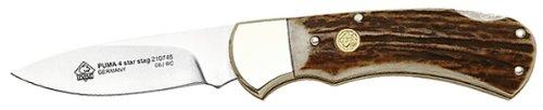 Puma Jagd-Taschenmesser,Modell 4-Star Stag, 1.4110 Hirschhorn,Neusilber