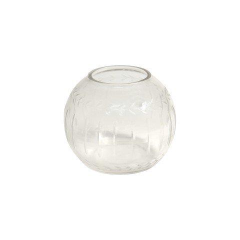 Art Deco Home - Kugelvase, Glas, 13 cm - 3063SG