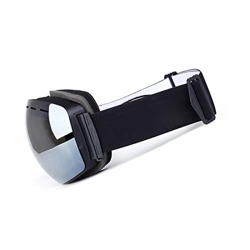 Aienid Fahrradbrille Winter Schwarz Silber Skibrille Winddichter Augenschutz Size:19X11CM