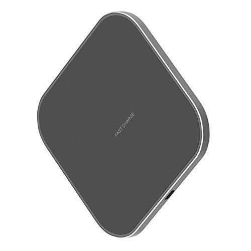 Fast Wireless Charger 10W Schnelles Qi Induktions Ladegerät, Ladestation für iPhone Xs/Xr/X/8/8 Plus, Samsung Galaxy S9/S8/S8 Plus/S7/S6 Edge/Note 8/Note 5 und Alle Qi-Fähige Geräte, Black+Black
