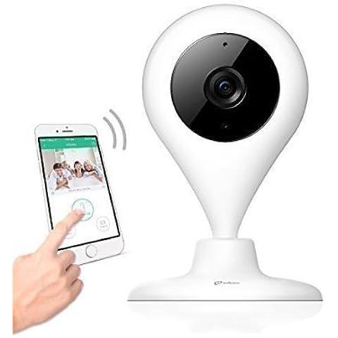 Cámara Vigilancia HD miSafes Vigilabebé Wi-Fi Monitor Remoto Seguridad Bebé Mascotas para iOS Android Móvil y