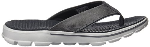 Skechers Go Walk Stag, Tongs Homme Gris (Char)