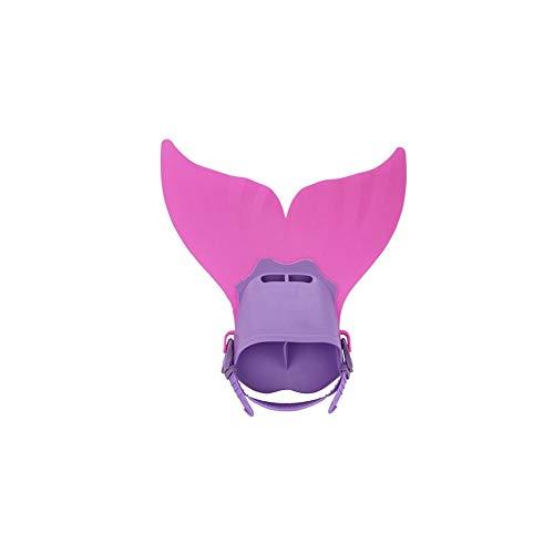 Desde Arriba niños Snorkel Aletas de natación del Traje de Cola de la Sirena Mono Aleta Aletas Snorkel Aletas para la Formación de Buceo Agua Deporte al Aire Libre Rosa 1PC