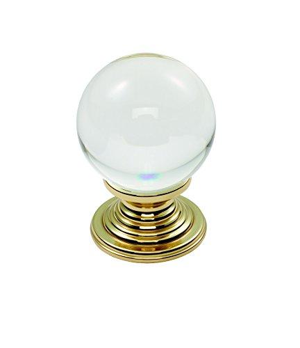 Lead Crystal Clear Ball, rund, 32 mm, Messing, transluzent klar -