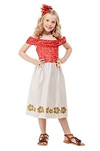 Smiffys 51031L - Disfraz de princesa hawaiana para niñas, talla L, color rojo