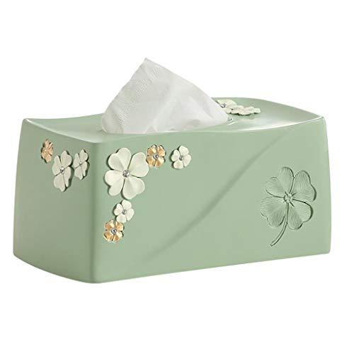 HYBKY Tissue Box Cover Rechteckig Tissue Box Kunststoff Tissue Box Cover Schlafzimmer Frisiertisch, Nachttisch, Schreibtisch, Tisch, Pink/Blau Taschentuchhalter (Color : Blue) -